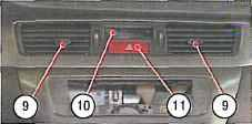 центральные сопла и часы лансер 9