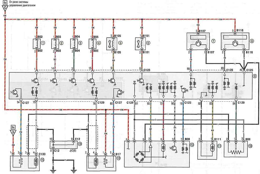 Электрическая схема митсубиси лансер 1996